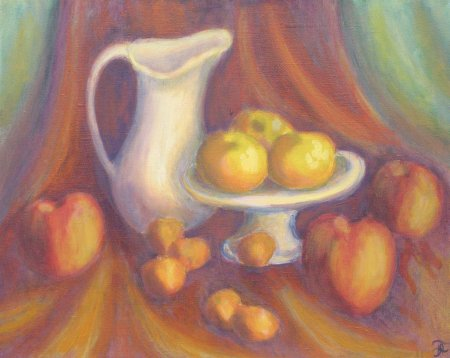 """Apples, Mandarins & Grapefruits"" Oil on Linen, 16"" x 20"", 2011"