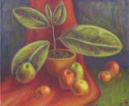 """Apples & Oranges (No Pun Intended)"" Oil on Canvas, 19.75"" x 23.75"", 2011"