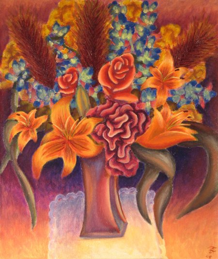"""Funeral bouquet"" oil on canvas, 23"" x 28"", 59 x 71.12 cm, 2008"