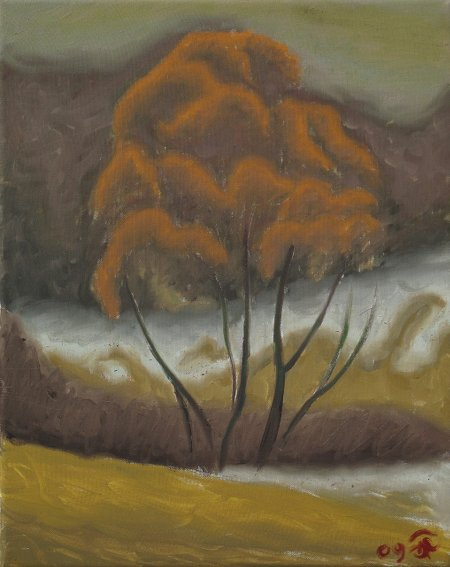 """March Thaw"" Oil on Canvas, 20"" x 16"", 51 x 40.7 cm, yr 2009"