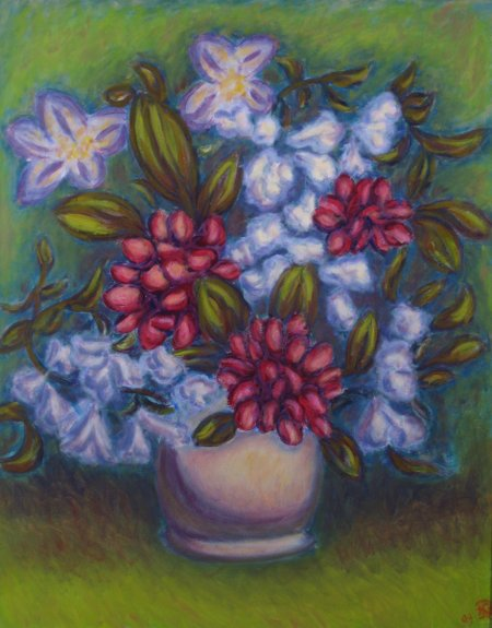 """Spring Arrangement"" Oil on Canvas, 30"" x 24"", 76.2 x 61 cm, 2009"