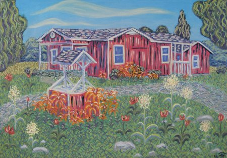 "Steve & Gail Wiggins' Home, Oil on Canvas, 30"" x 42"", 76.2 x 106.7 cm, 2016"