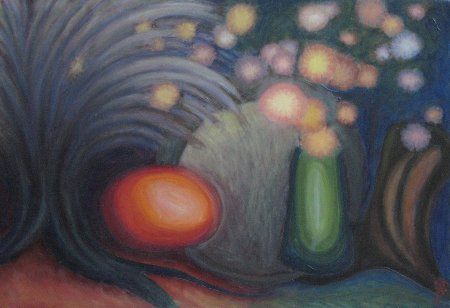 """The Harvest (Abstract)"" Oil on Linen, 21"" x 30.5"", 2010"