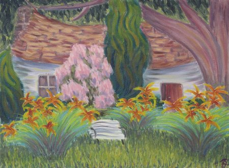"""Topside House (Gould Farm)"" Oil on Canvas, 18""x 24"", 45.7 x 61 cm, yr 2011"