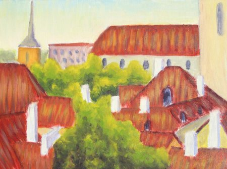 """Vana Tallinnas"" Oil on Canvas, 2010"