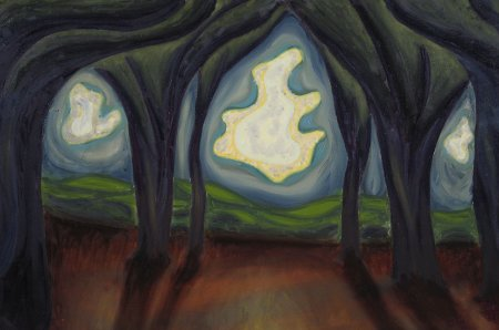 """Nature as Architect"" Oil on Canvas, 20"" x 30"" (50.8 x 76.2 cm) yr. 2009"