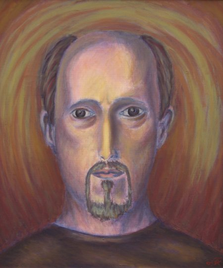 """Self Image"" Oil on Canvas, 23.62"" x 19.7"", 60 x 50 cm, 2009"